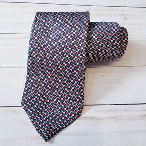 Oscar de la Renta tie red while and blue